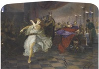 salome dancing before herod by edward henry corbould