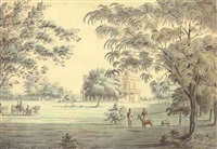 lady teignmouth's garden house, on the banks of the hooghly, calcutta by hubert cornish