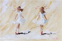 girls dancing by lorna millar