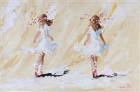 girls dancing by lorna millar
