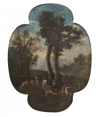 scène champêtre à la nymphe et aux putti by cornelis van poelenburgh
