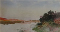waikato river landscape by frank wright