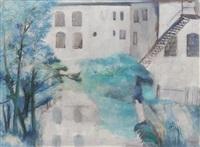 white wash houses near garden by vladimir komarek