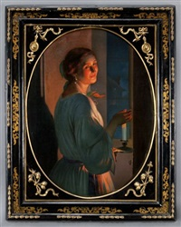 woman in candlelight by johann mongels culverhouse