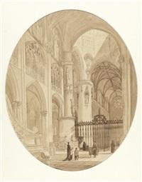 in der kathedrale von burgos by genaro perez villaamil