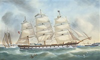 ships in sydney harbor by george frederick gregory
