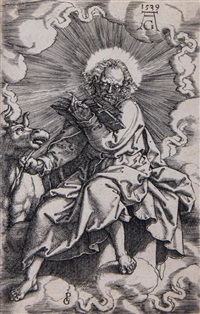 st. luke (from the evangelists) by heinrich aldegrever