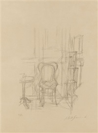 chaise et guéridon by alberto giacometti