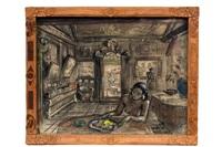 ni pollok in het huis van de kunstenaar in sanur, bali by adrien jean le mayeur de merprés