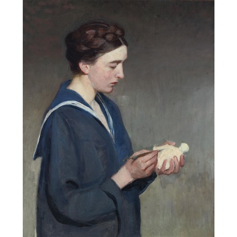 the sculptor by lilla cabot perry