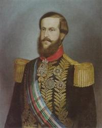 dom pedro ii. von brasilien mit dem imperial orden do cruceiro sowie dem goldenen vlies und weiteren orden by f.s. lobo