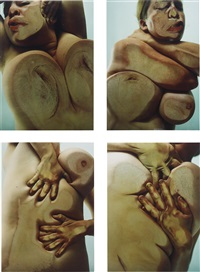 closed contact (set of 4) by jenny saville