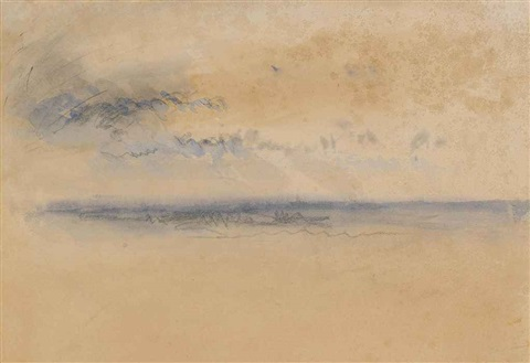 sunset or sunrise over the south coast of england by joseph mallord william turner
