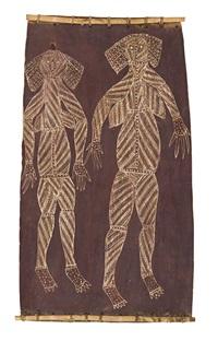 two female spirit figures by jack madagarlgarl