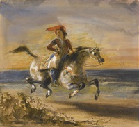a greek horseman by eugène delacroix