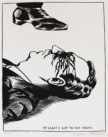 no title at least i got to see vegas by raymond pettibon
