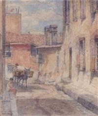 a village street by stelios miliadis