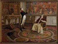entrevue de napoléon ier et du pape pie vii, en janvier 1813 by jean paul laurens