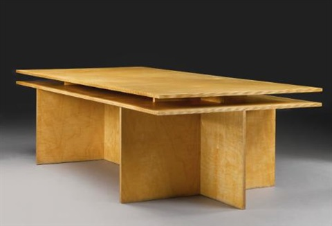 writing table from the kölnischer kunstverein cologne germany by donald judd