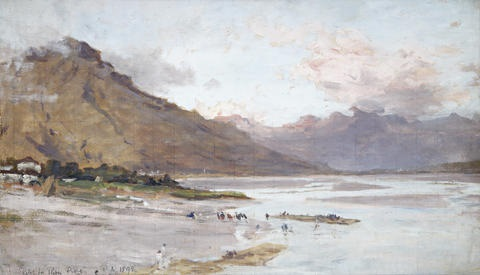 river piave sketch by james aumonier
