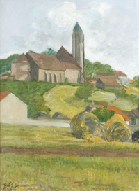 l'eglise de village by louis georges eléonor roy
