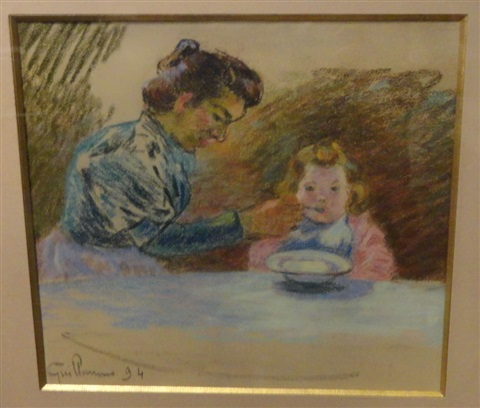 madame guillaumin et sa fille marguerite by armand guillaumin