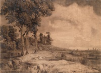 teichlandschaft by jules charles aviat