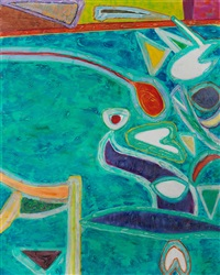 blue flame by gillian ayres