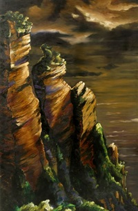 the cliffs (blue mountains) by jan nelson