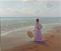 wistful in lilac, spanish beach by francisco serra