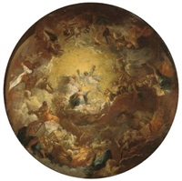 the assumption of the virgin: a modello for a domed ceiling by antoine berthélemy