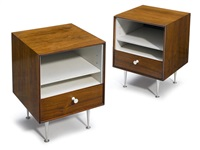 thin edge night stands (pair) by george nelson