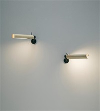 pair of adjustable wall lights, model no. 210 by gino sarfatti