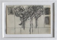 garden with trees by keith vaughan