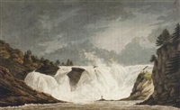 the chaudière falls, quebec by benjamin (major-general) fisher