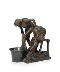 femme se lavant la jambe gauche (deuxième étude) by edgar degas