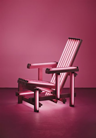 pink electric chair by iván navarro