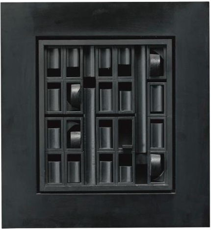black excursion 1 by louise nevelson