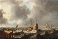 shipping in high seas by jan peeters the elder