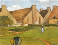 ferme bretonne by louis georges eléonor roy