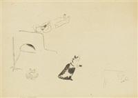 sur le poêle by marc chagall