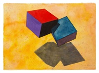 two cubes by ronald davis
