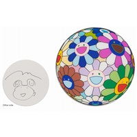 dinner plate from opening dinner for ©murakami exhibition by takashi murakami