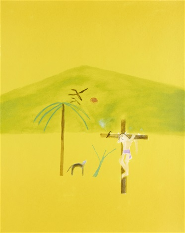 indian crucifixion by craigie aitchison