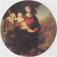 madonna and child with saint john by raffaelino del garbo