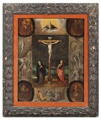 le christ en croix au golgotha entouré de la vierge et de saint jean by frans francken the younger