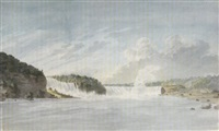 the falls at niagara by benjamin (major-general) fisher