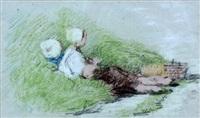 kinderen in het duingras by bernardus johannes blommers