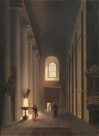 interno di chiesa by vincenzo abbati
