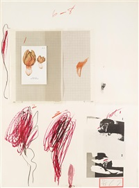 ohne titel, pl. ix (from natural history part i, mushrooms) by cy twombly
